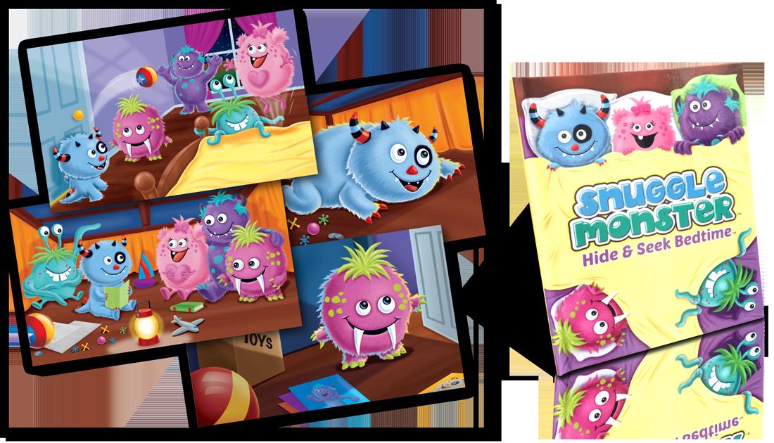 Snuggle Monster Children's sleepytime book and plush snuggly monster