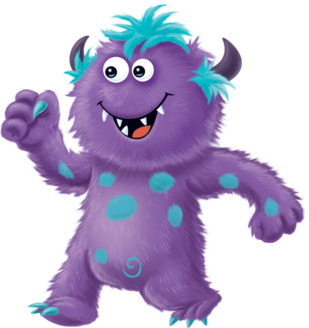 purple Snuggle Monster for kids