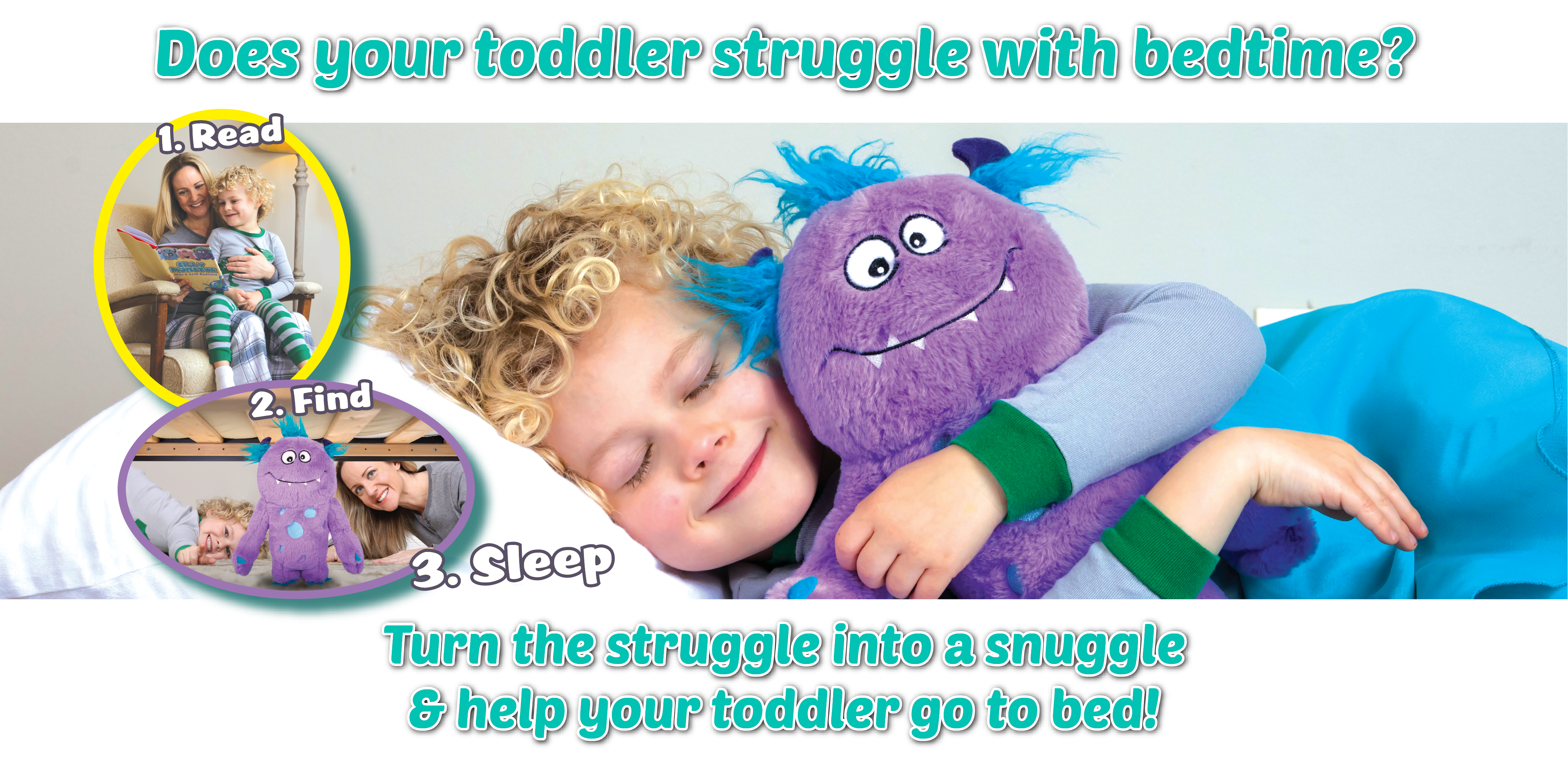 Child with snuggle monster