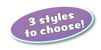3 styles to choose